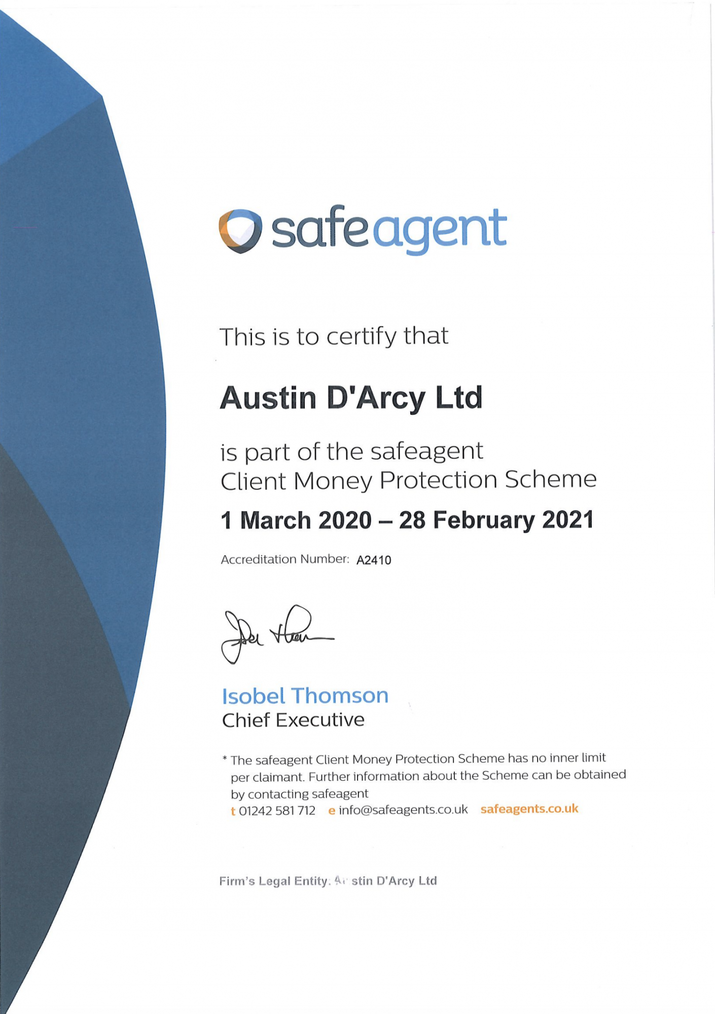 Austin Darcy are SafeAgents